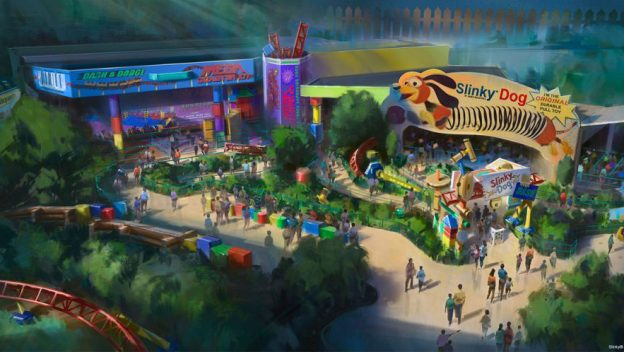 Artist Rendering of Slinky Dog Dash