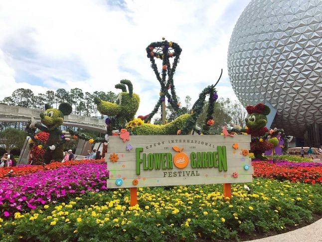 Epcot Flower and Garden festival entrance display
