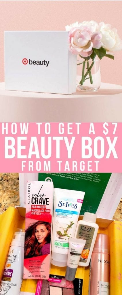 Target has Beauty Boxes? Yes! They do! No subscription required. Find out how you can sample some amazing products each month from Target.com all for only $7. #beauty #beautybox #targetstyle #makeup #haircare