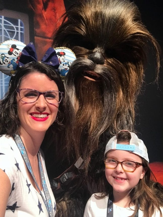 Sarah and Caroline with Chewbacca at Disney Social Media Moms Celebration