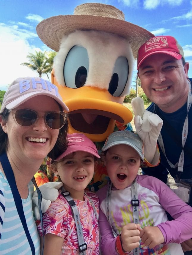 Meeting Donald Duck on the Disney Dream