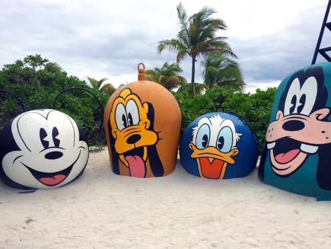 Mickey and friends on Castaway Cay