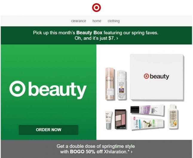Target Beauty Box Email