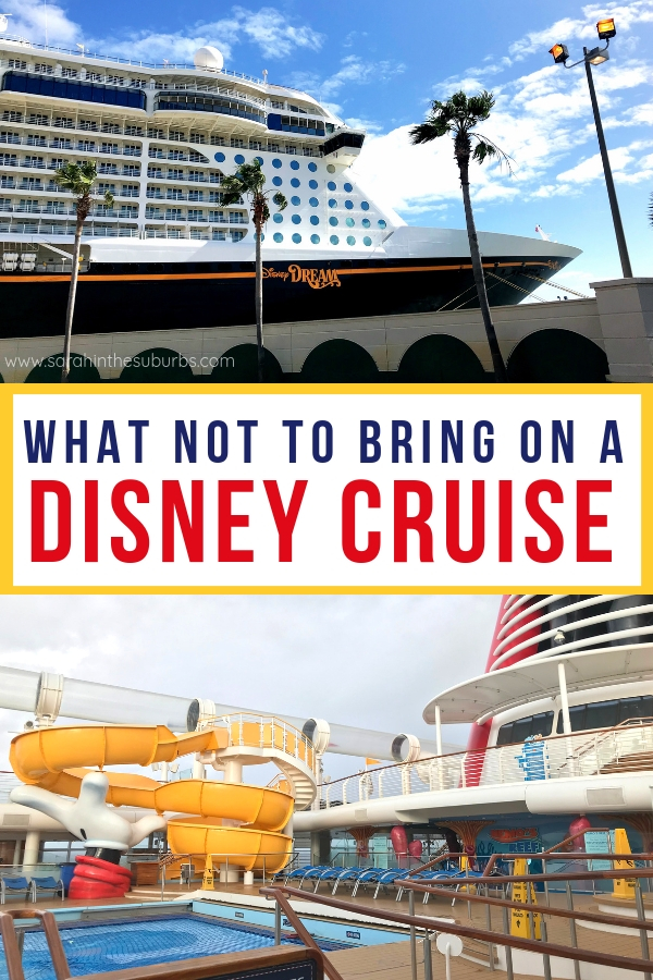 Disney Cruises are awesome! But should you pack the same things you do for a Disney World trip? I say no. Find out what you definitely don't need on your Disney Cruise vacation! #disneycruise #dcl #disneyvacation #disneytravel #disneytips #disneycruiselinetips #disneypacking #familytravel #vacationtips #cruisetravel