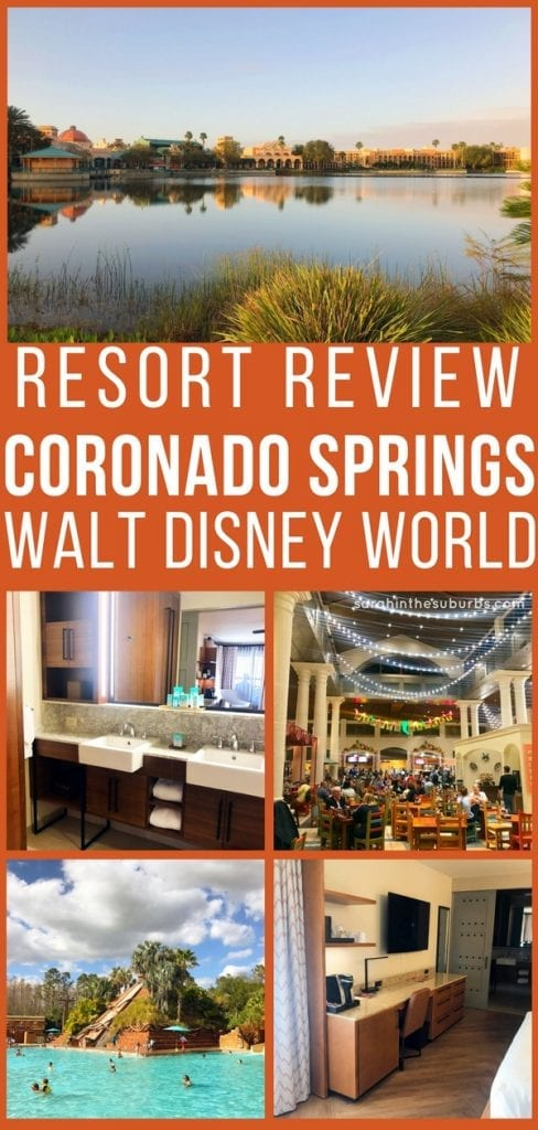 Considering a stay at Disney's Coronado Springs Resort? Then you'll want to read this post! I cover what the rooms look like, how far of a walk to the convention center it is, and why you'll love the pool whether you have kids or not! Take it all in with this resort review of Disney's Coronado Springs. #waltdisneyworld #travel #travletips #coronadosprings #hotelreview #Disneysmmc
