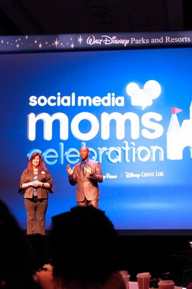 Leanne O'Reagan and Mark Daniels speaking at Disney SMMC