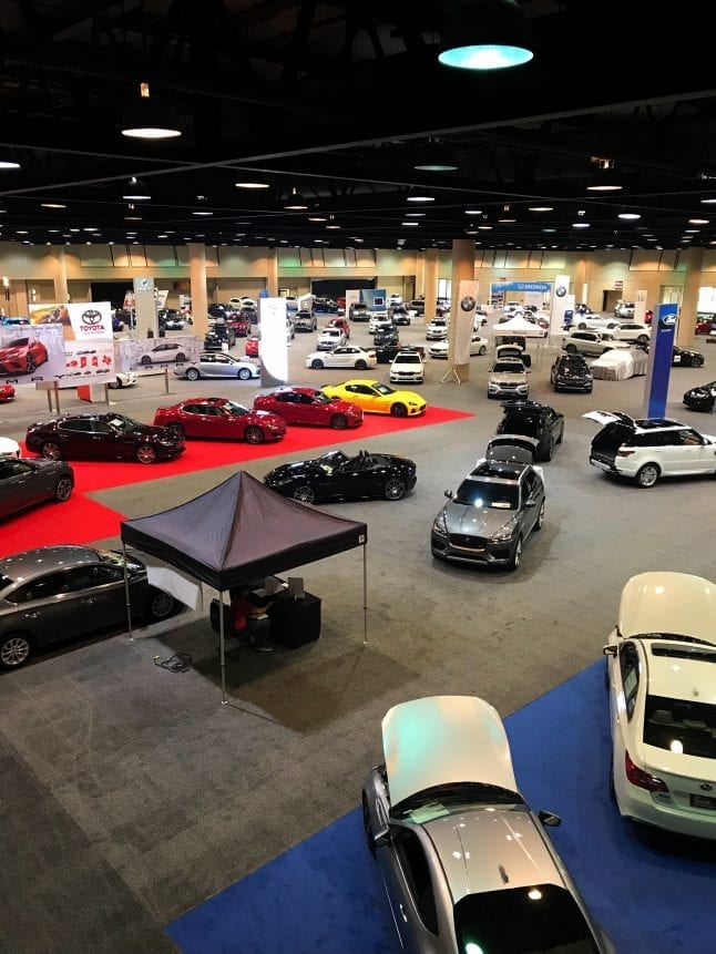 Many car brands are represented at the 2018 Alabama Auto Show.
