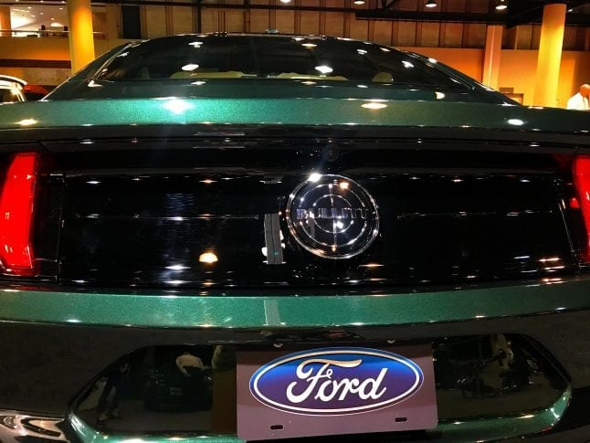 Close up of the Bullitt by Ford.