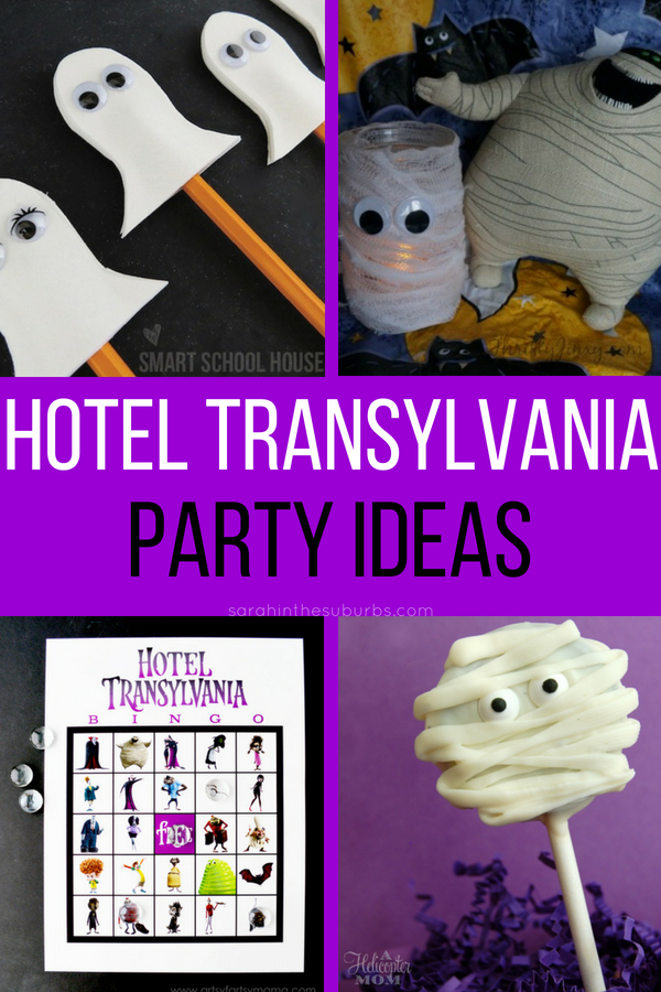 Plan your own ghoulishly good time with these easy Hotel Transylvania party ideas! Inspired by everyone's favorite monster family, Hotel Transylvania party ideas are simple and fun. See Hotel Transylvania 3: Summer Vacation in theaters this July, and plan your spooky good party ASAP! #hoteltransylvania #partyideas #kidsparties #halloweenparties #birthdaypartyideas #movienight #moviepartyideas #hoteltransylvania3