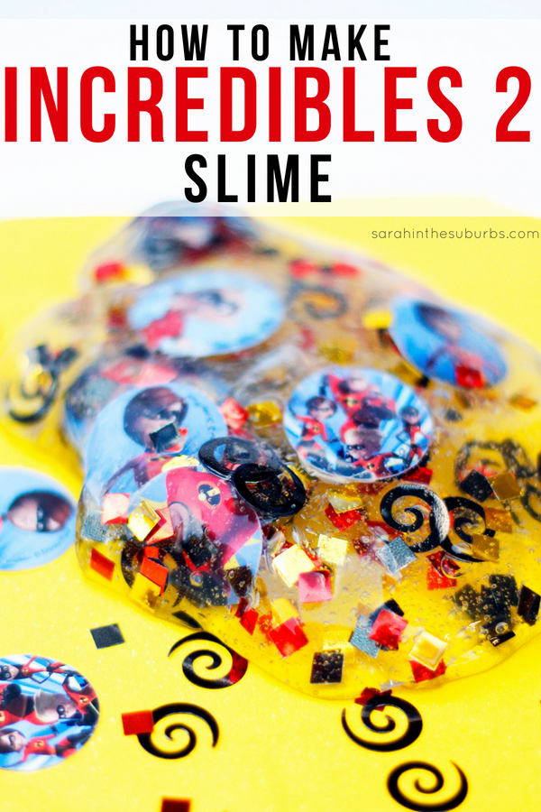 "Make this Incredibles slime recipe just in time for the new movie! Incredibles 2 flies into theaters June 15, and what better way to celebrate than with slime? Learn how to make Incredibles 2 inspired slime and you'll be the most ""super"" parent of them all! #Incredibles2 #slime #slimerecipe #craft #craftsforkids #moviecrafts #howtomake #incrediblesslime #incredibles2event #slimerecipe"