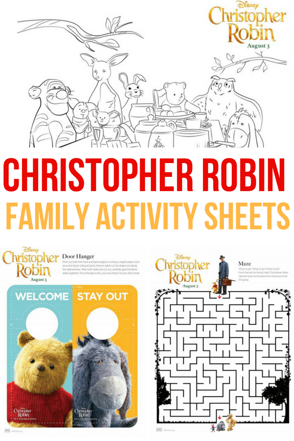Disney's Christopher Robin will be in theaters August 3! Share your excitement with these FREE family activity sheets!