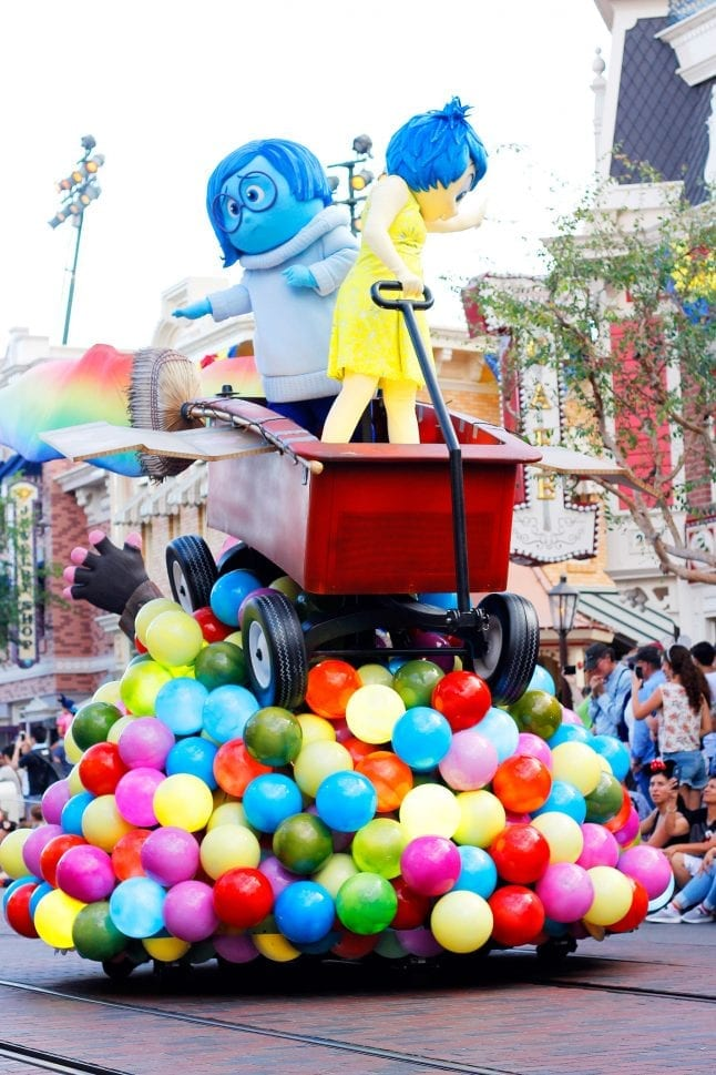 Inside Out Float at Pixar Play Parade.