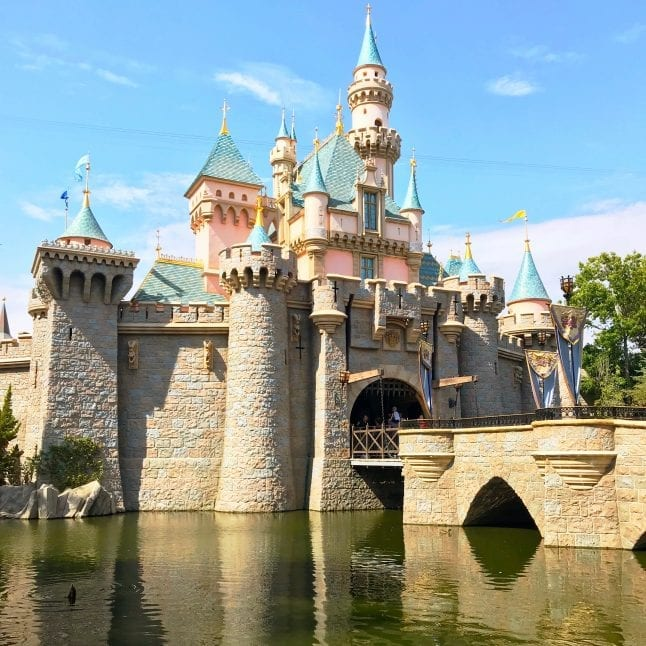 Sleeping Beauty Castle in Disneyland is a beautiful sight to behold!