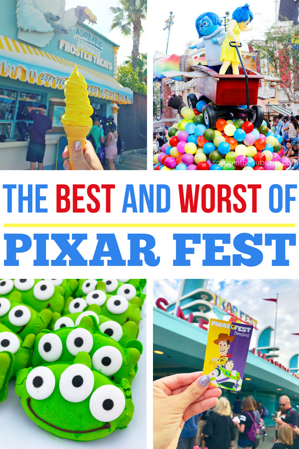 Pixar Fest at Disneyland is in full swing! Discover what's hot and what's not at this limited time event! #pixarfest #disneyland #dca #disneytravel #disneytips #pixarpier #disneylandresort