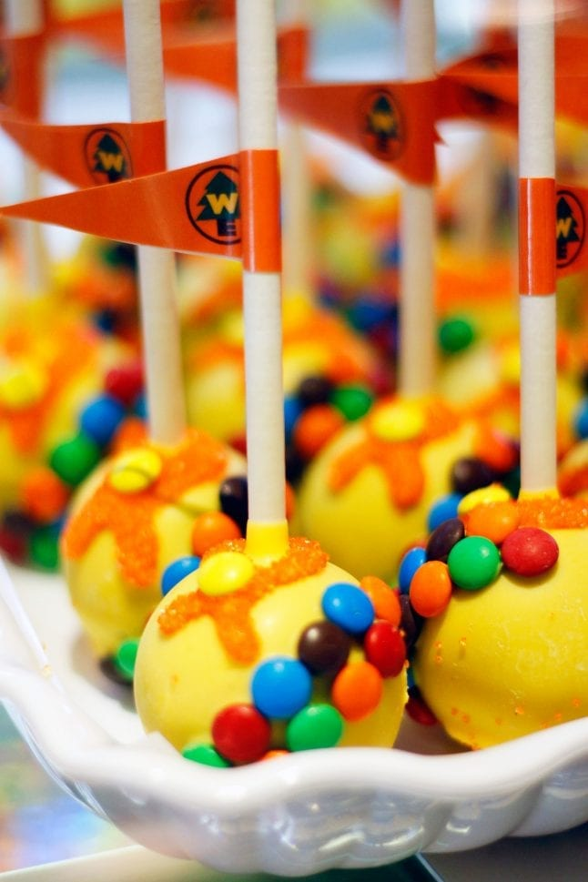 Pixar Fest sweet treats include cake pops of all kinds!