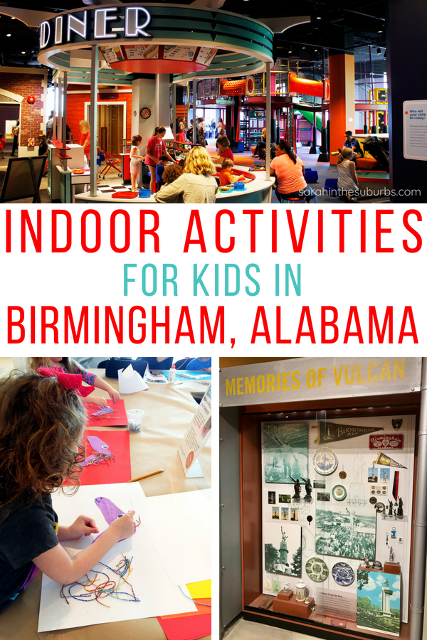 Don't forget to play in your hometown! Birmingham, Alabama is a vibrant city full of fun and culture. When the weather isn't cooperating, find out what indoor activities for kids in Birmingham are the best! #familytravel #traveltips #kidfriendly #indoorplay #familyfun #birmingham #alabamatravel #southerntravel #usatravel