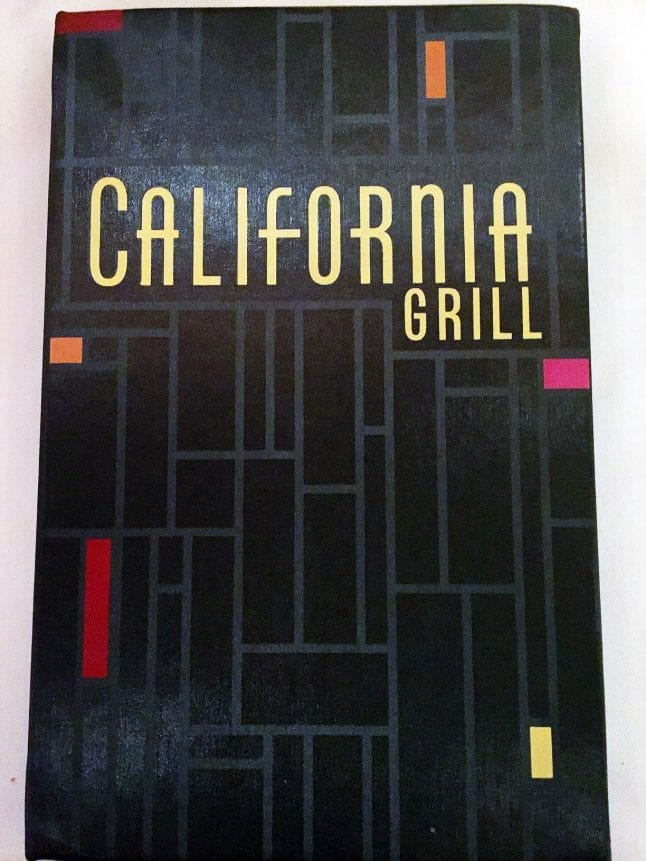 California Grill Menu