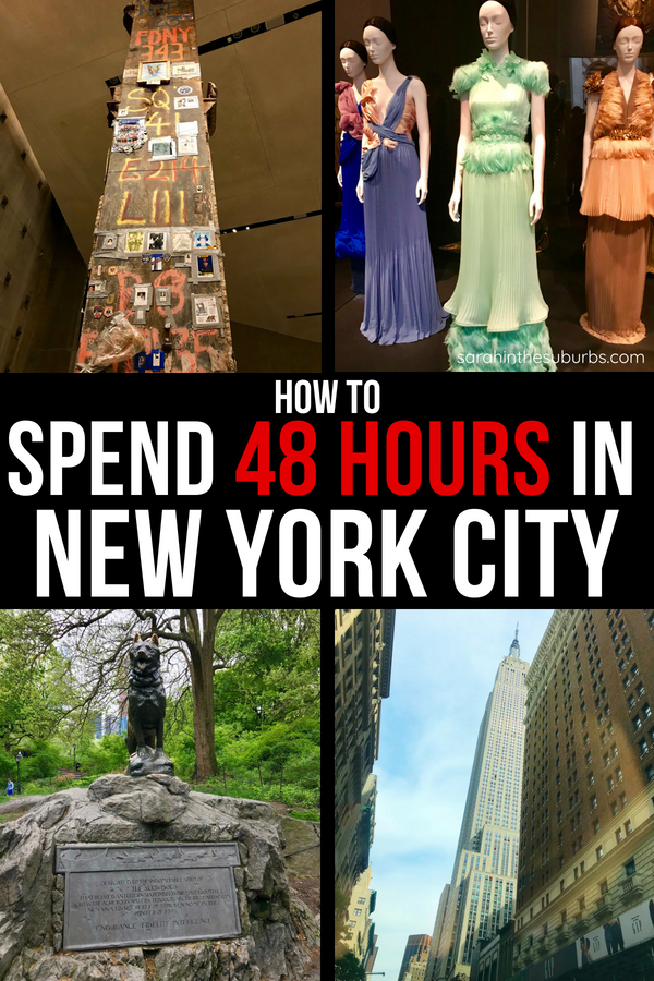 Taking a quick trip to NYC? There is so much to do and see in New York City. What should you do with your time? I've got some great ideas to make the most of your 48 hours in New York City! #traveltips #nyctravel #nyctips #quicktravel #weekendtrips #weekendtravel #thingstodoinnyc #visitnyc