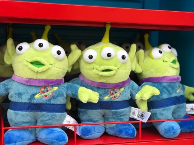 Little Green Men Plush toys at Toy Story Land