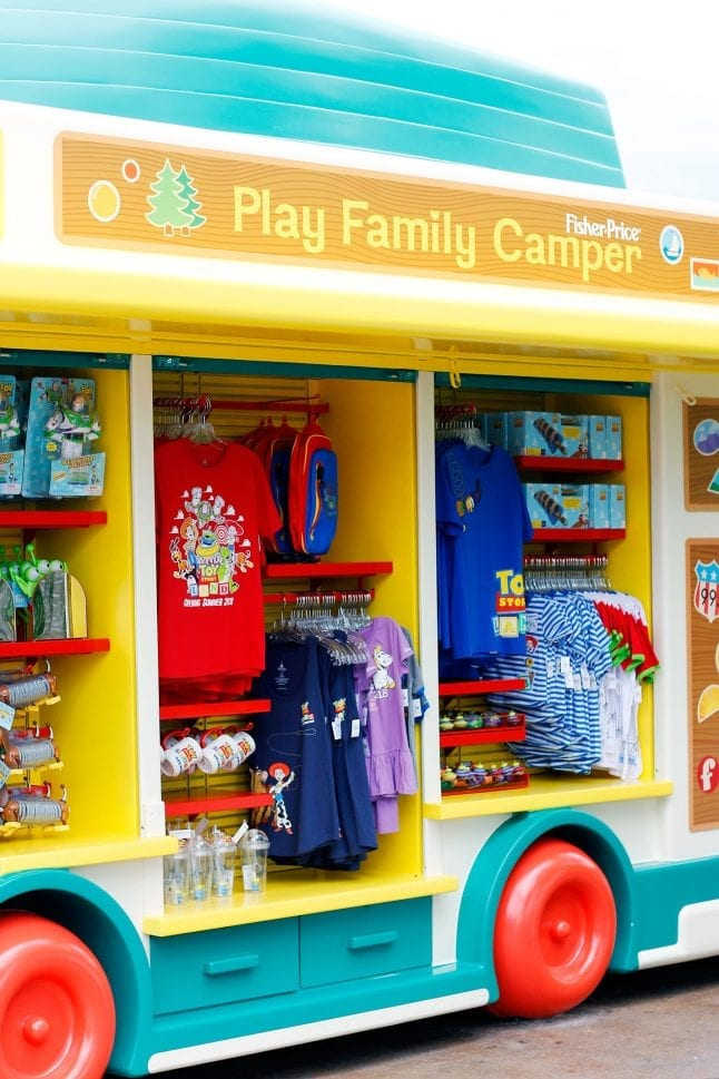 Merchandise carts in Toy Story Land
