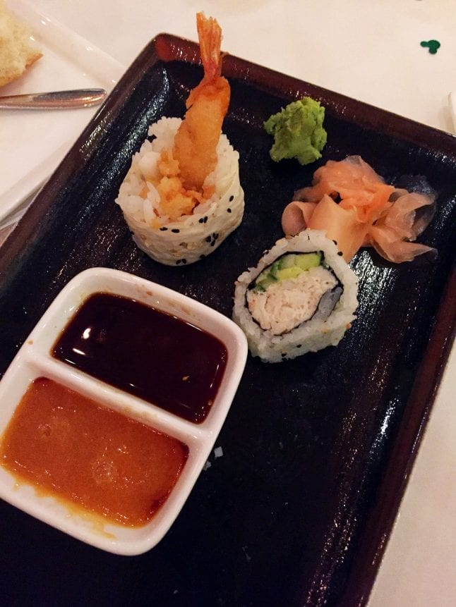 Sushi at Disney's California Grill.