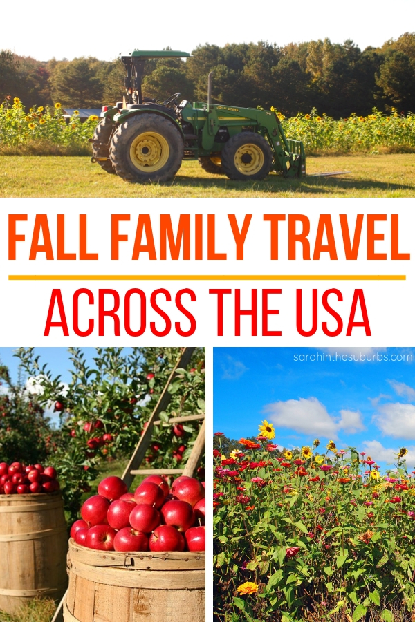 Fall is a great time of year for families to travel! Check out these 11 fall travel ideas for families in the US! #usatravel #falltravel #travelingmom #traveltips #ustravel #familytravel