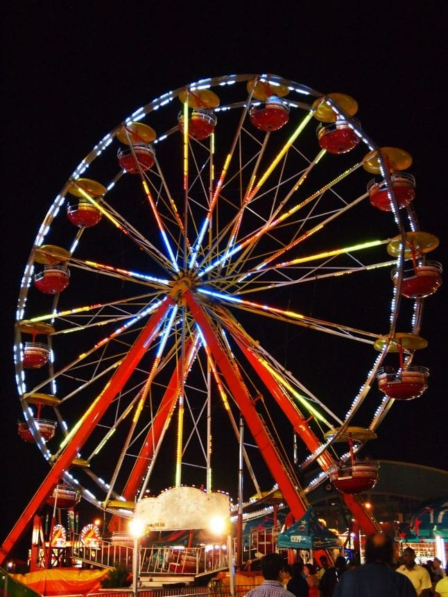 Ferris Wheel at a state fair.