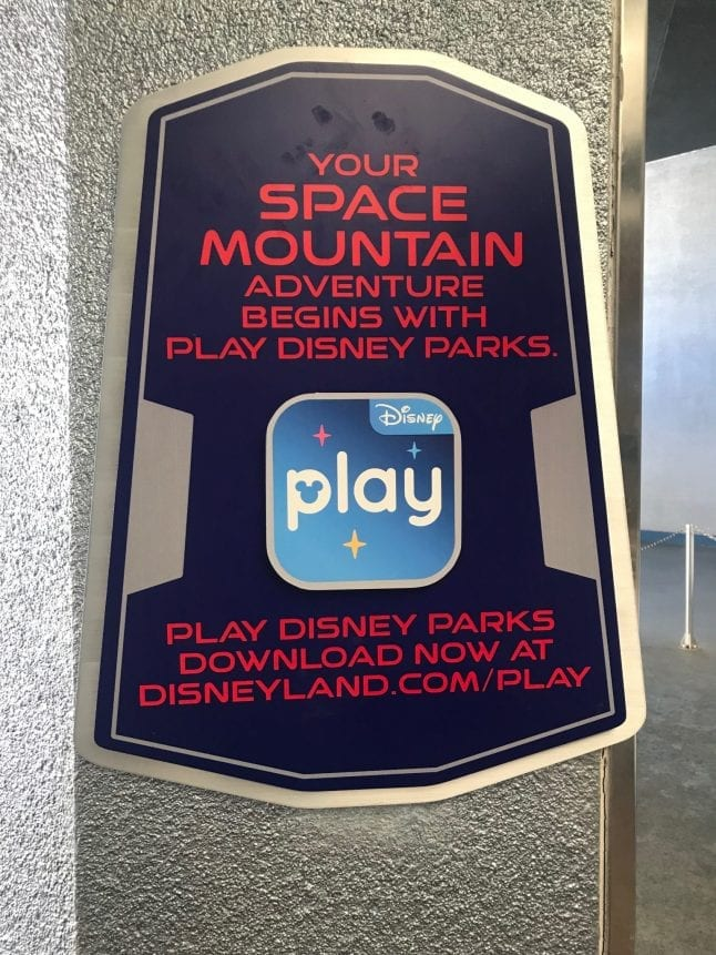 Sign Advertising Play Disney Parks App