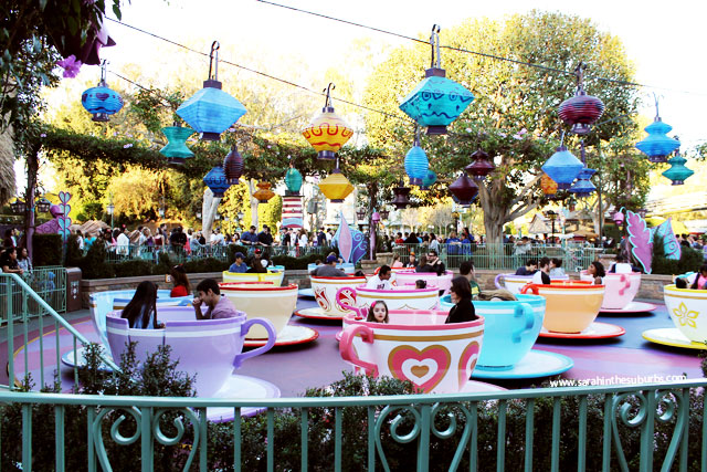Daytime photo of Mad Tea Party at Disneyland