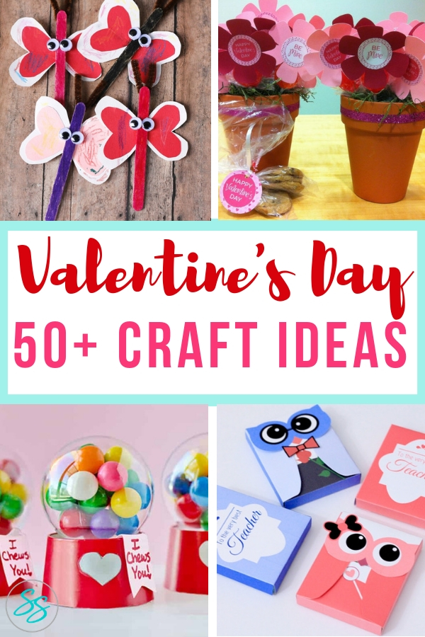Craft your heart out with over 50 ideas for Valentine's Day crafts! #crafts #valentinesday #craftsforkids #easydiy #diyvalentinesday #diygifts #crafting