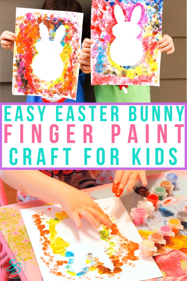 Easter bunnies are so cute and perfect for the spring season! Let your kids make their own Easter bunny fingerprint craft with this easy DIY tutorial. #fingerprintcraft #craftsforkids #easter #holidaycraft