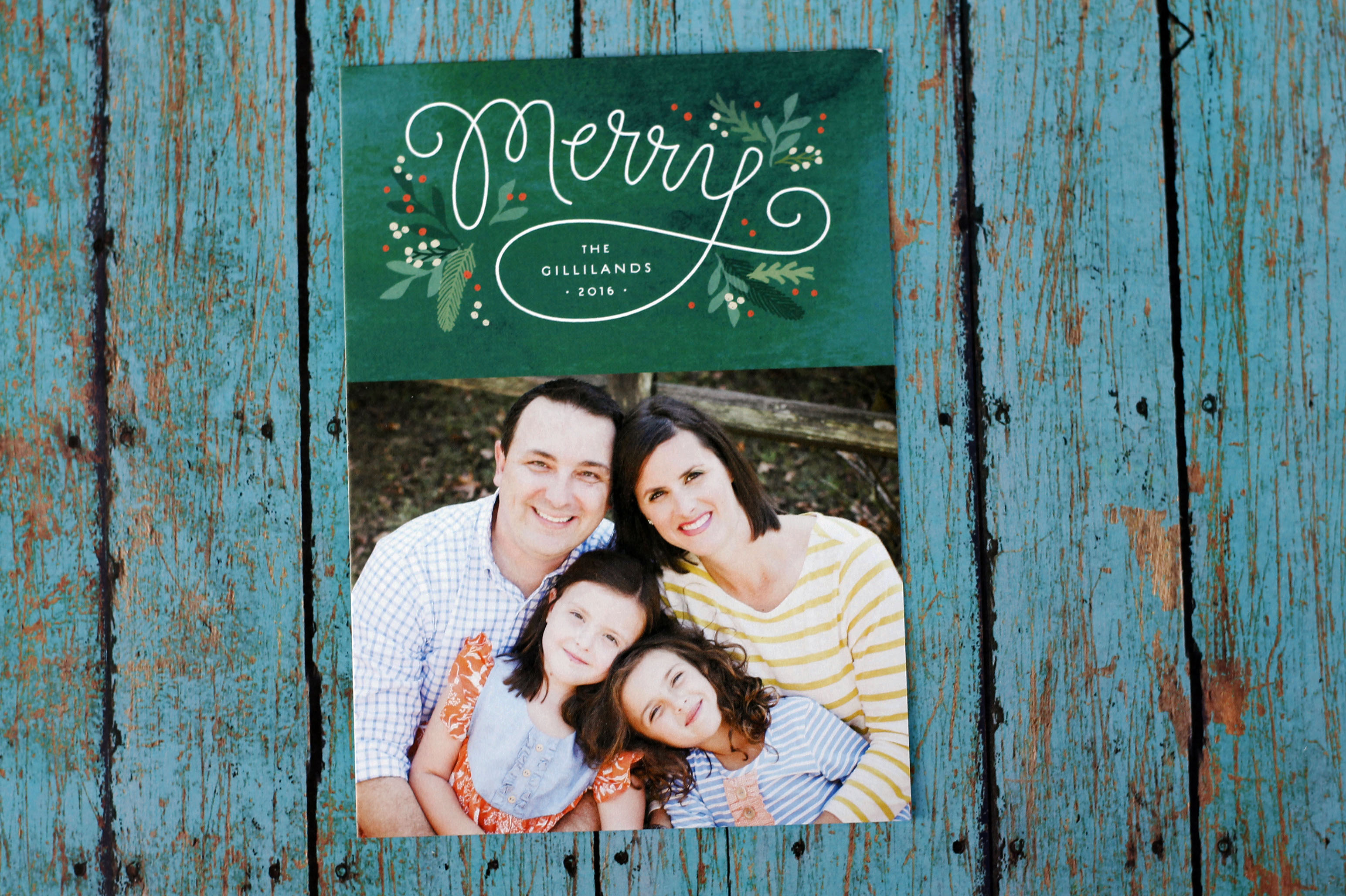 Christmas greetings from Minted and our Family