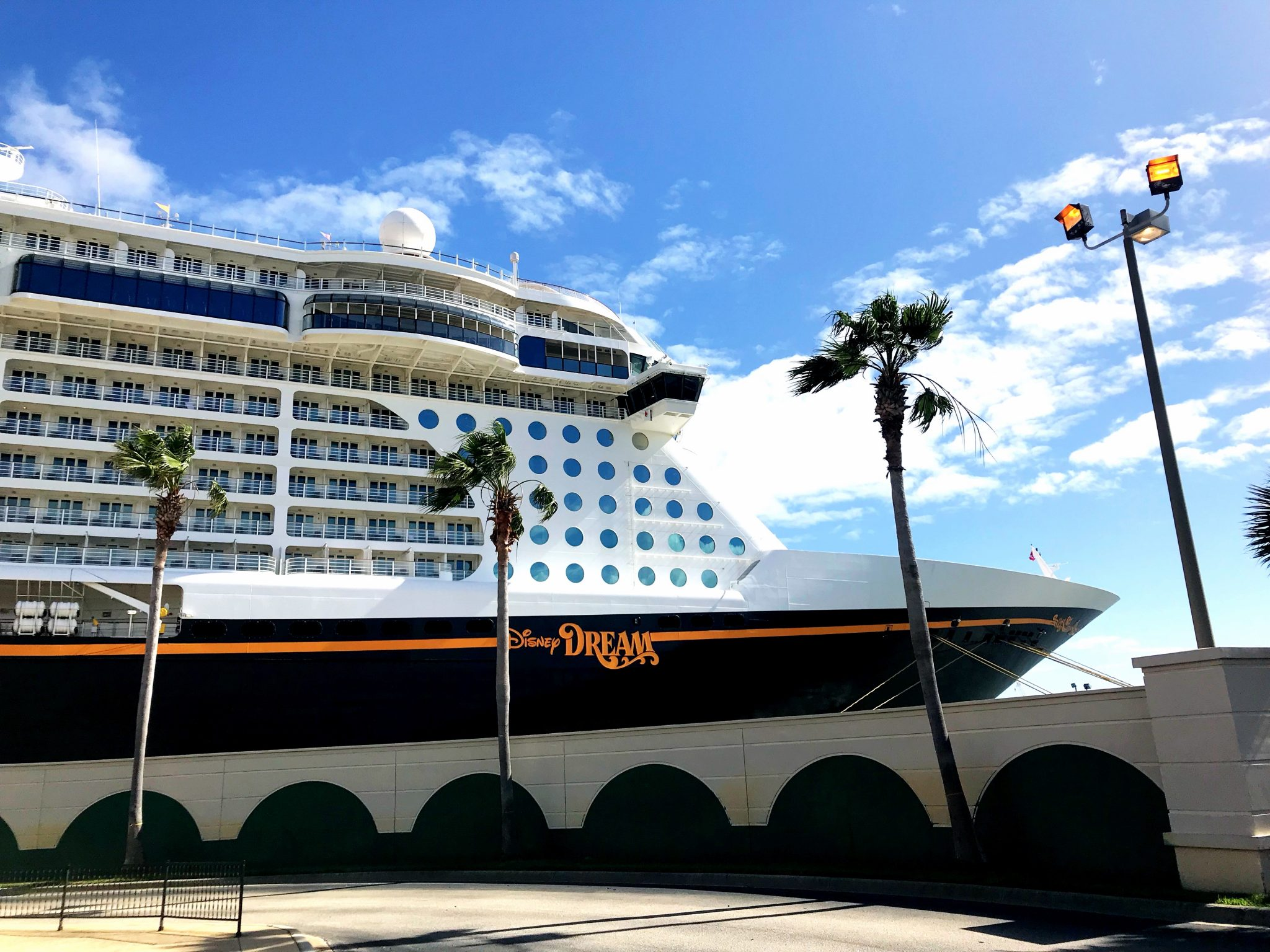 Disney Dream cruise ship docked at Port Canaveral