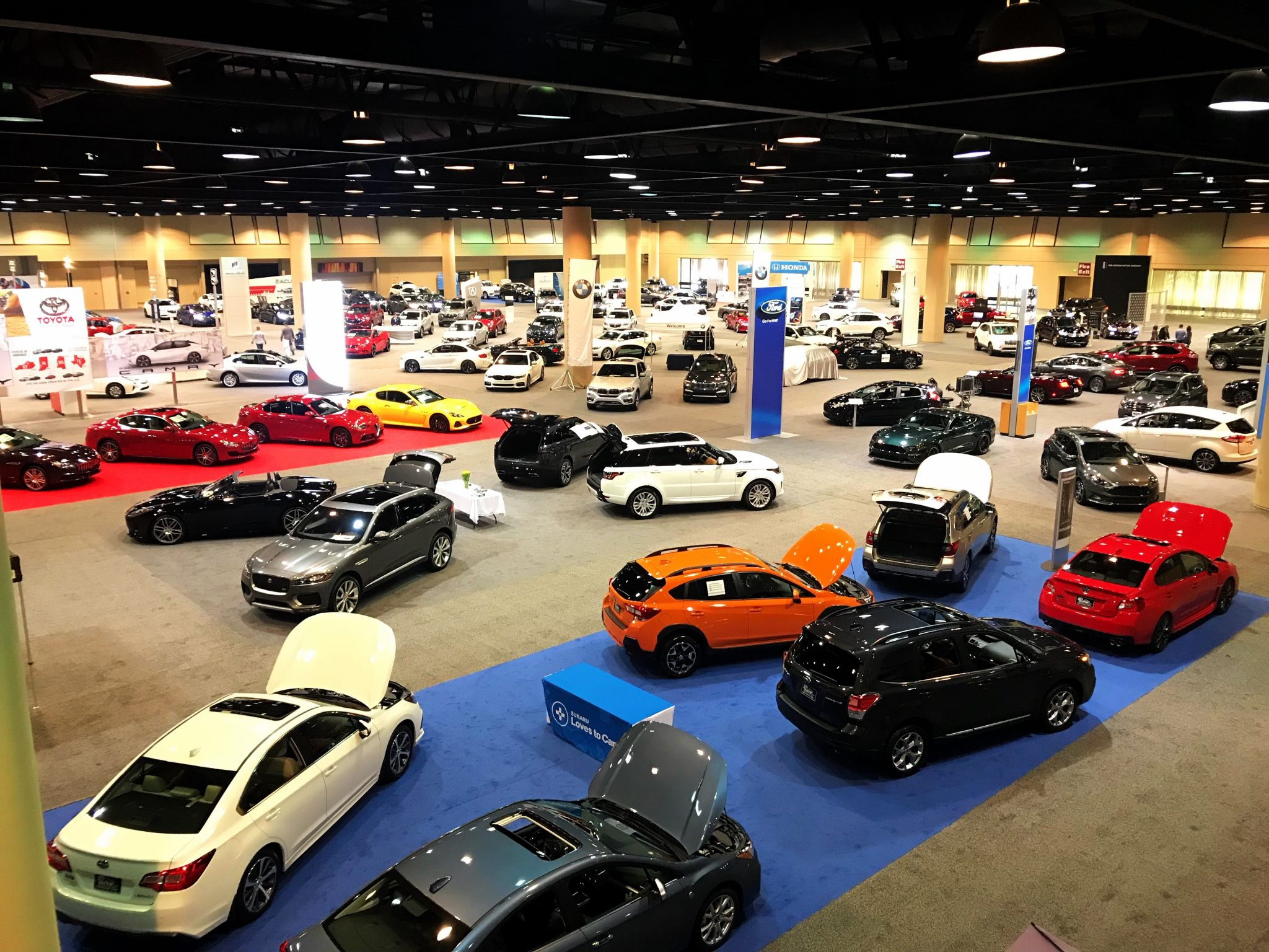East Exhibit Hall for 2018 Alabama Auto Show