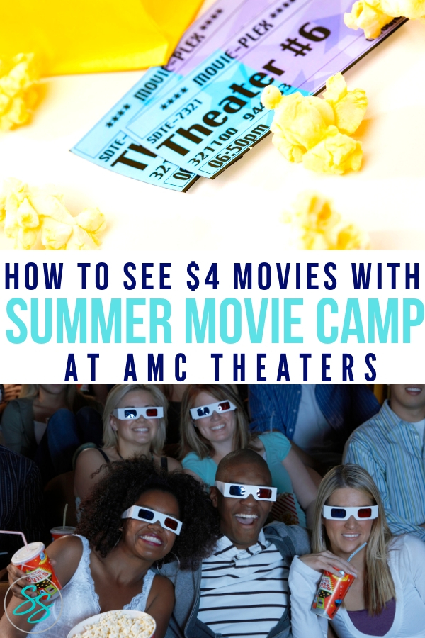 Check out the 2019 AMC Theaters Summer Movie Camp schedule! See movies with popcorn and a drink for $4! #amctheaters #summermovies #kidfriendly #familyfriendly