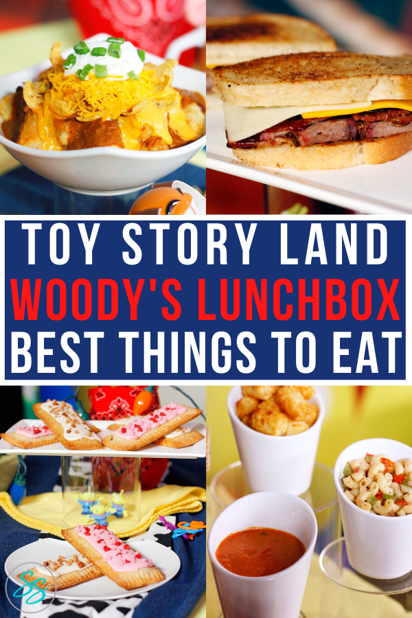 Toy Story Land has a restaurant! Yes, you can order food in Toy Story Land at Woody's Lunchbox. Find out what's being served at breakfast, lunch, and dinner, and whether or not you should eat in Toy Story Land! #disneyfood #disneytips #familytravel #toystoryfood