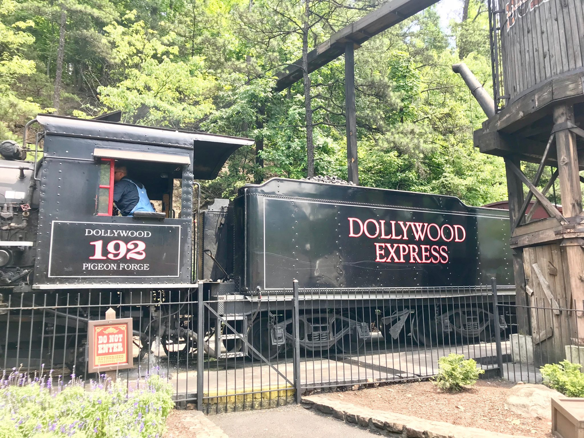 Train called the Dollywood Express at Dollywood