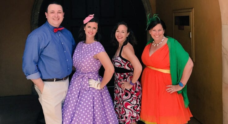 Disneybounding on Dapper Day at Epcot