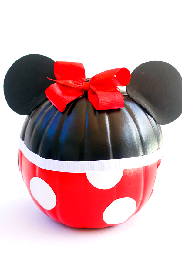 No carve Minnie Mouse pumpkin