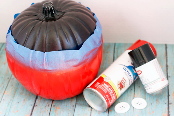 Supplies needed for Mickey Mouse pumpkin.