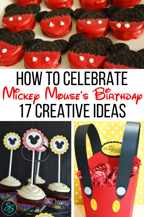 Mickey Mouse is turning 90! Celebrate everyone's favorite mouse with these 17 cute and creative ideas! #mickeyparty #mickeymousebirthday #mickey90 #mickeypartyideas #mickeymouse #birthdayparty #partyideas #disneyparty #disneypartyideas