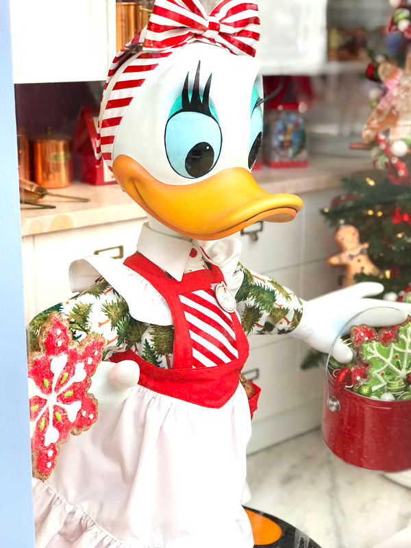 Daisy Duck is ready for Christmas at Disney World