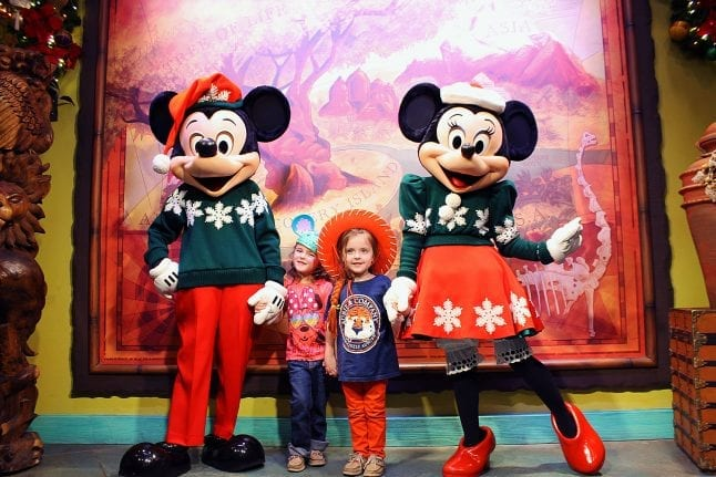 Holiday Mickey and Minnie at Animal Kingdom