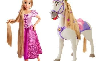 Large size Rapunzel and Maximus are perfect Disney toys for Christmas.