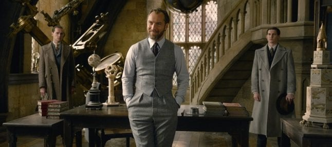 Jude Law as Albus Dumbledore in Fantastic Beasts The Crimes of Grindelwald
