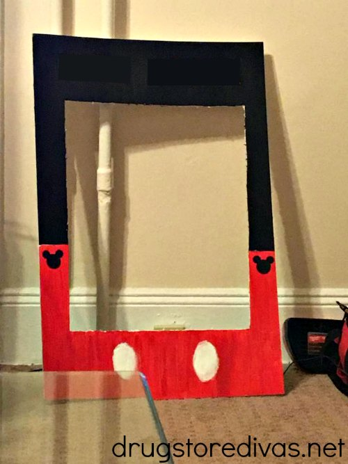 Drugstore Divas' Mickey Mouse photo booth prop