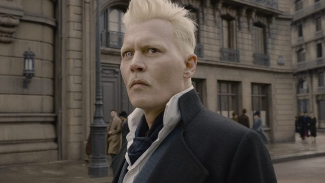 Gellert Grindelwald played by Johnny Depp