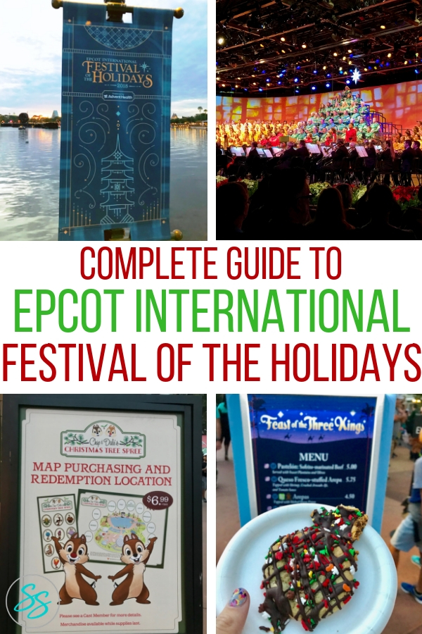 What is Epcot Festival of the Holidays? Here is your complete guide to what to eat, see, and do during the festival. #EpcotHolidays #DisneyWorldHolidays #ChristmasAtDisney #DisneyChristmas #DisneyTravel #DisneyTips #HolidayTravel #DisneyWorldChristmas #EpcotChristmas #FestivaloftheHolidays
