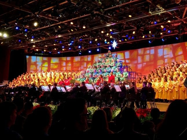 Do not miss seeing the Candlelight Processional at Epcot Festival of the Holidays.