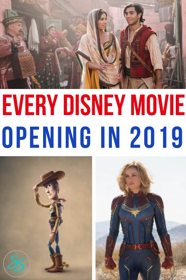 Movie fans, rejoice! Here's a copy of every single movie the Walt Disney Company is releasing in 2019! From Marvel to Toy Story to Star Wars and everything in between! #disneymovies #starwars #marvel #aladdin #toystory4 #artemisfowl #thelionking #captainmarvel #avengers #dumbo #disneynature